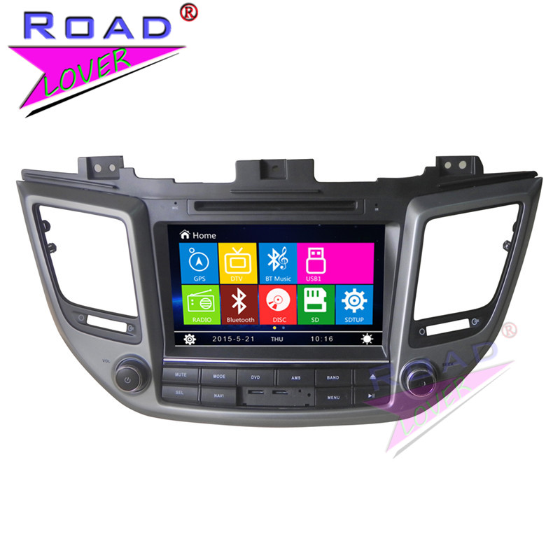 TOPNAVI Wince 6.0 Two Din 8inch Car Media Center DVD Auto Player For Hyundai Tucpon 2015- Stereo GPS Navigation Video USB BT SD