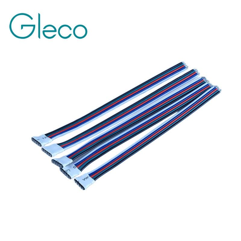 5 unids/lote 5pin RGBW hembra cable conector para LED 10cm para 5050 RGBW tira de LED rgbww