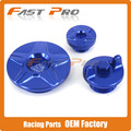 Blue Engine Timing Cover Oil Filter Plug Set For YZ250F YZ450F YZF250 YZF450 14-16  YZ250FX 15 16 WR250F 15 Dirt Bike Offroad