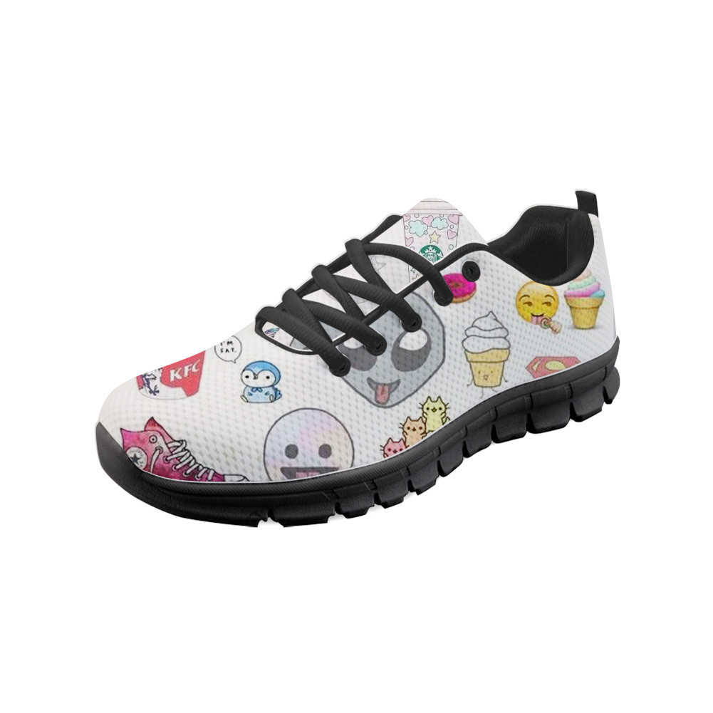 Alien Tumblr FashionWomen Flats Lady Female Mesh Breathable Black Sole Sneakers Outsiede Walk Flat Lazy Shoes for Students sue jenkins tumblr for dummies