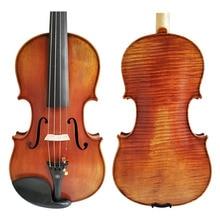 Free Shipping Copy Stradivarius 1716 100% Handmade Oil Varnish Violin + Carbon Fiber Bow  Foam Case FPVN04 #2 stradivarius violin playing grade oil paint violin antique varnish honggeyueqi
