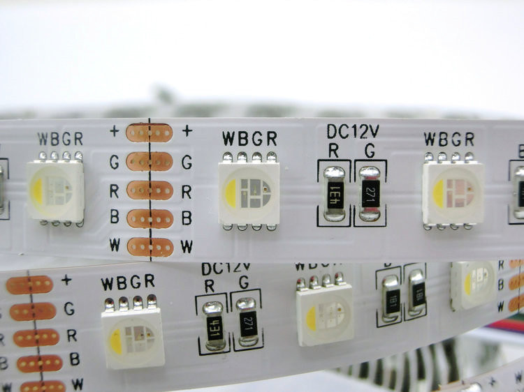 White Smd 5050 4 Colors In 1 Led Rgbw Led Strip Light Rgb Warm White 30 60leds/m Dc12v 12mm Pcb Waterproof Ip21 Ip65 Ip67 5m Matching In Colour