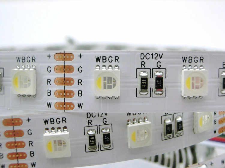 SMD 5050 4 Warna dalam 1 LED RGBW LED Jalur Cahaya RGB + putih/Hangat Putih 30 60 leds/m DC12V 12 MM PCB Tahan Air IP65 IP67 IP21 5 M