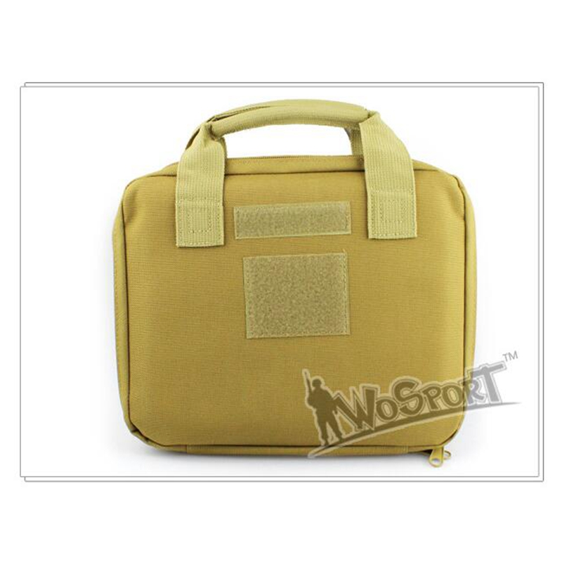 "12/"" Tactical Nylon Padded Pistol Hand Gun AEG Magazine Carry Case Bag Pouch Tan"