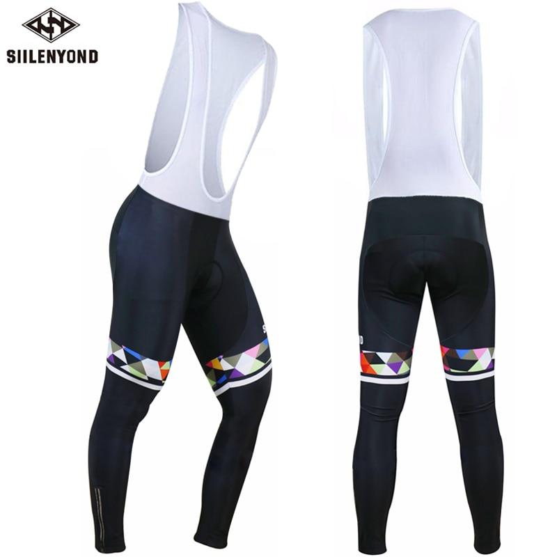 Siilenyond Cycling Long Bicycle Bib Pants men Warm 2019 Winter Thermal Fleece Gel Pad Bike Bib Tights Mtb Men Ropa Ciclismo