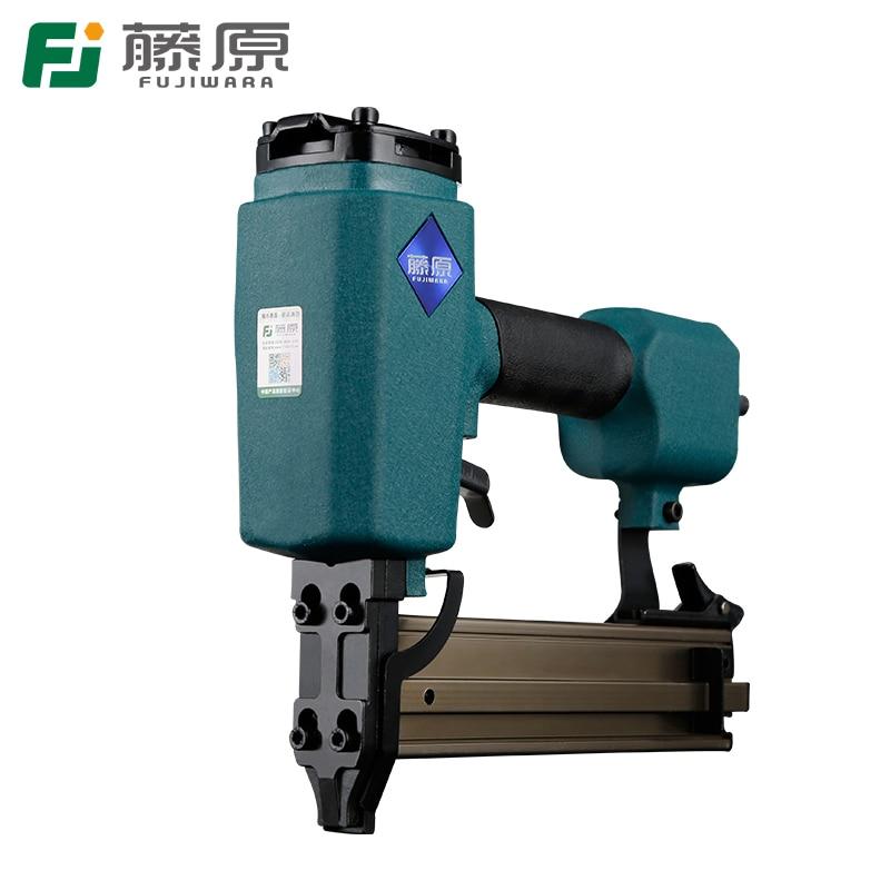 цена на FUJIWARA Pneumatic Nail Gun Steel Nail Gun ST18-38 Straight Nailer Woodworking Nailing Tools