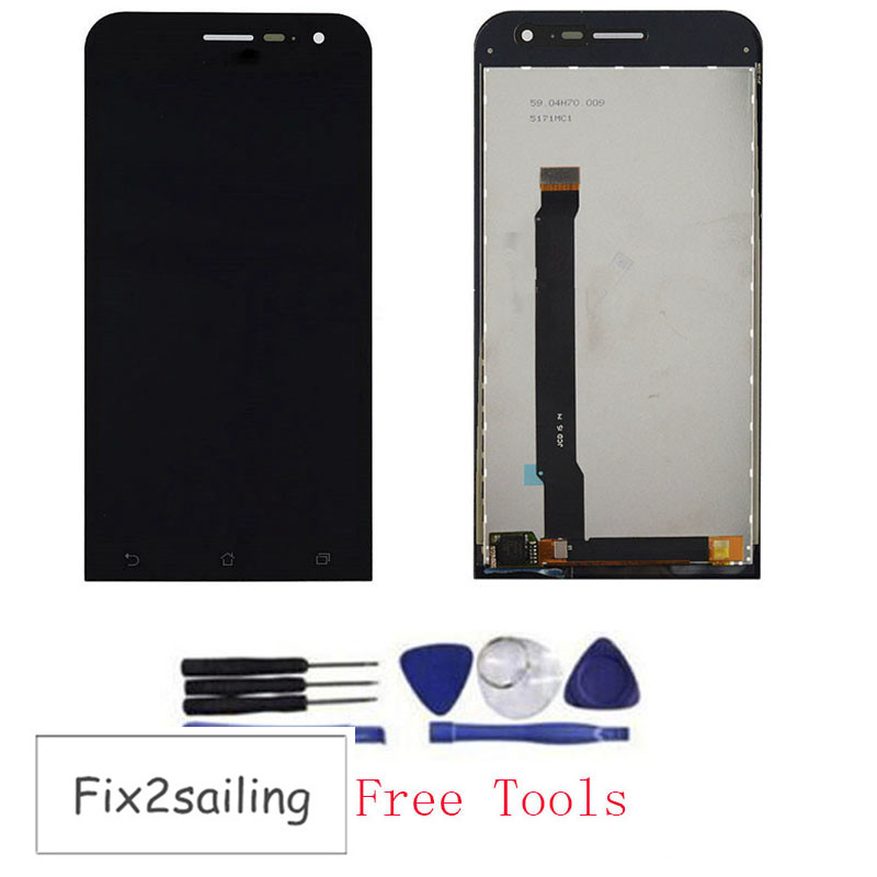 Подробнее о OEM 100% Test LCD Display Touch Screen Digitizer Assembly Replacement For Asus Zenfone 2 ZE550CL Black With Free Tools black replacement part for asus zenfone 4 lcd display and touch screen digitizer assembly 1pc lot free shipping