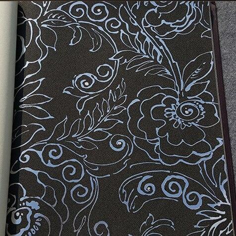 Papier peint Floral européen pour murs de salon 3 d feuille de Goild moderne noir rouge argent fleur d'or papier peint décor à la maison