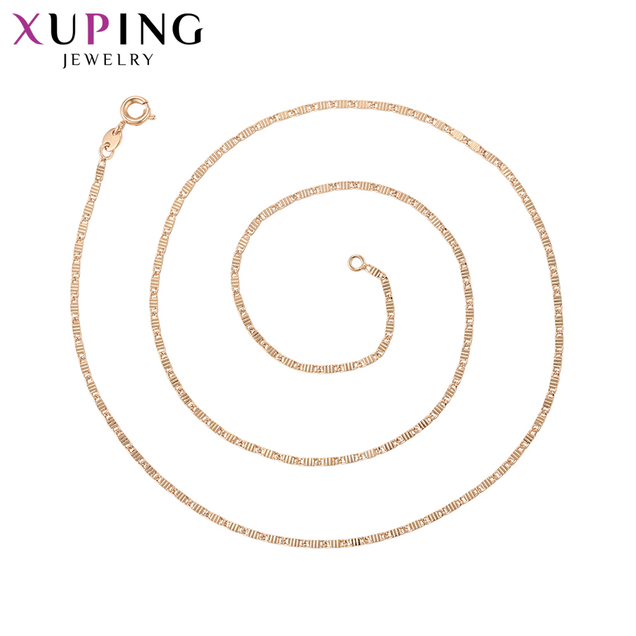 11.11 Deals Xuping Jewelry for Women Retro Long Chain Necklace Charm Style Temperament Ladies New Years Day Gifts S115,7-45033