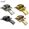 Watch Butterfly Belt Metal Buckle Strap Clasp Stainless Deployment Push Button 20mm 22mm Double Fold Genuine Deployant K22