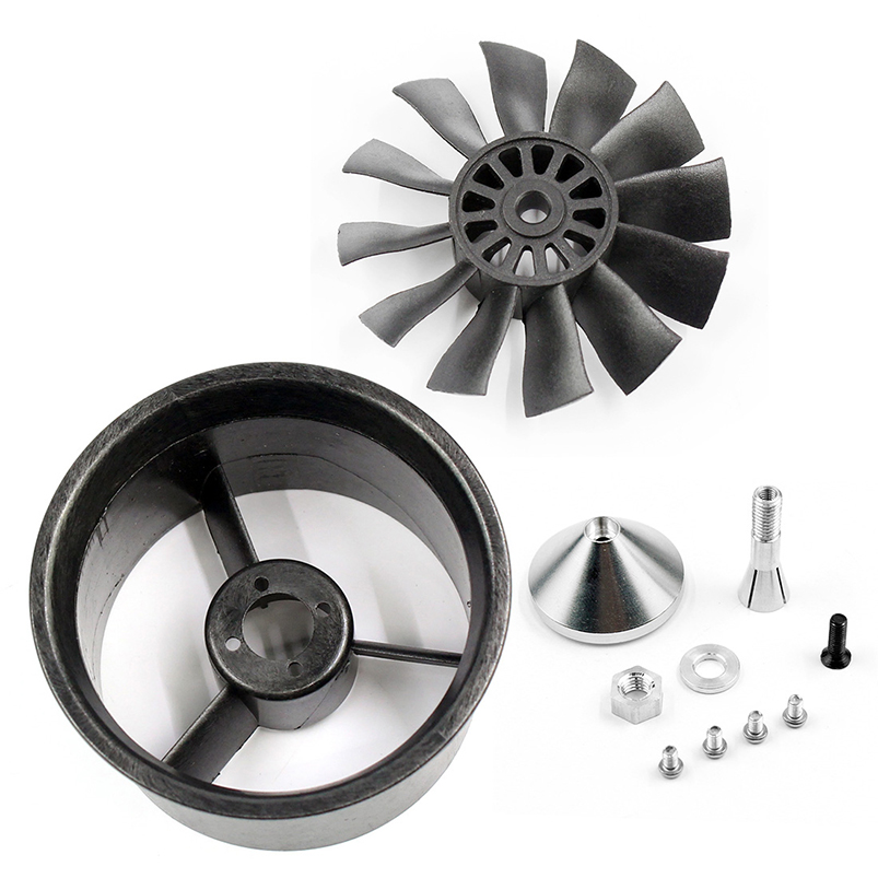 купить QX-MOTOR 64mm Accessories 12 Blades Ducted Fan EDF with Ducted Barrel For RC Drone Brushless Motor F22149/50 онлайн