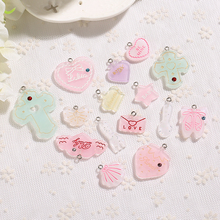 15pcs/lot  Kawaii Flatback Resin Heart Strawberry Star Crown Cabochons Scrapbook DIY Embellishments Accessories