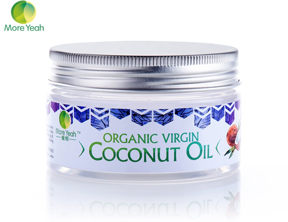 100ML VIRGIN Coconut Oil Extract Cold Pressed Natural Healthy Oil for Aromatherapy Hair&<font><b>Skin</b></font> Care /Makeup Remover/Body Massage