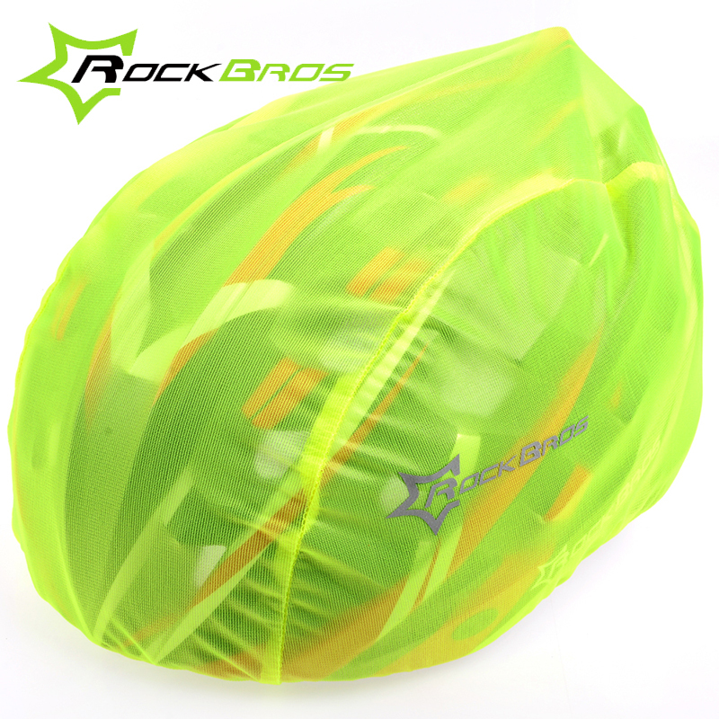 RockBros Cycling Helmet Cover Waterproof Windproof Dustproof Ultralight MTB Road Bike Bicycle Helmet Covers Rain Cover 4 Color rockbros titanium ti pedal spindle axle quick release for brompton folding bike bicycle bike parts