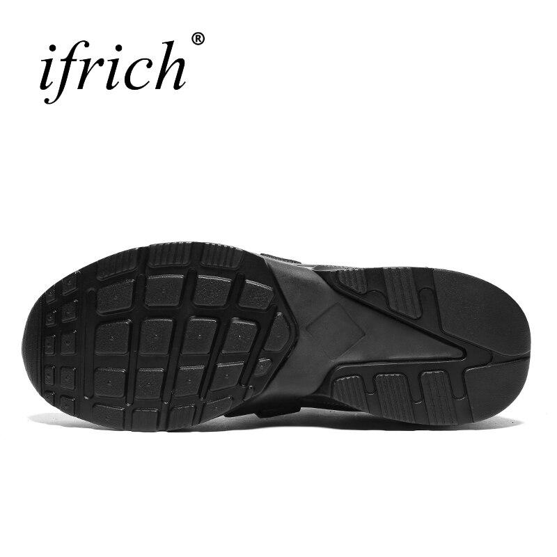Ifrich сезон: весна–лето Новый Для мужчин Спортивная обувь для прогулок черный, белый цвет Спорт Спортивная обувь дышащая мужская обувь Спорт...