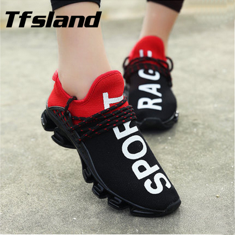 Tfsland Män Kvinnor Netto Yta Andas Sneakers Soft Flats Baseball Sports Shoes Nya Zapatillas Hombre Chaussures High Quality