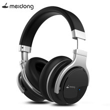 Meidong E7B Active Noise Cancelling Bluetooth Headphones Wireless Headset with Microphone over Ear Stereo Deep Bass 30H Playtime new bee anc headset active noise cancelling wireless bluetooth headphones stereo deep bass headset over ear earphone with mic