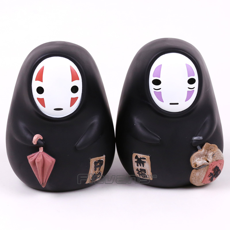 Cute Spirited Away No Face Man Piggy Bank PVC Figure Collectible Model Toy 14cm 2 Styles anime cartoon spirited away chihiro and no face pvc action figure collectible model toy 19cm mhfg016 page href