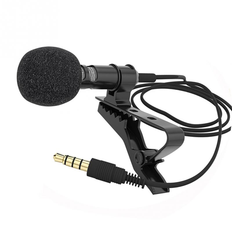 New Arrival Lapel Clip-on Omnidirectional Condenser Microphone Lapel Microphone For Mobile Phones