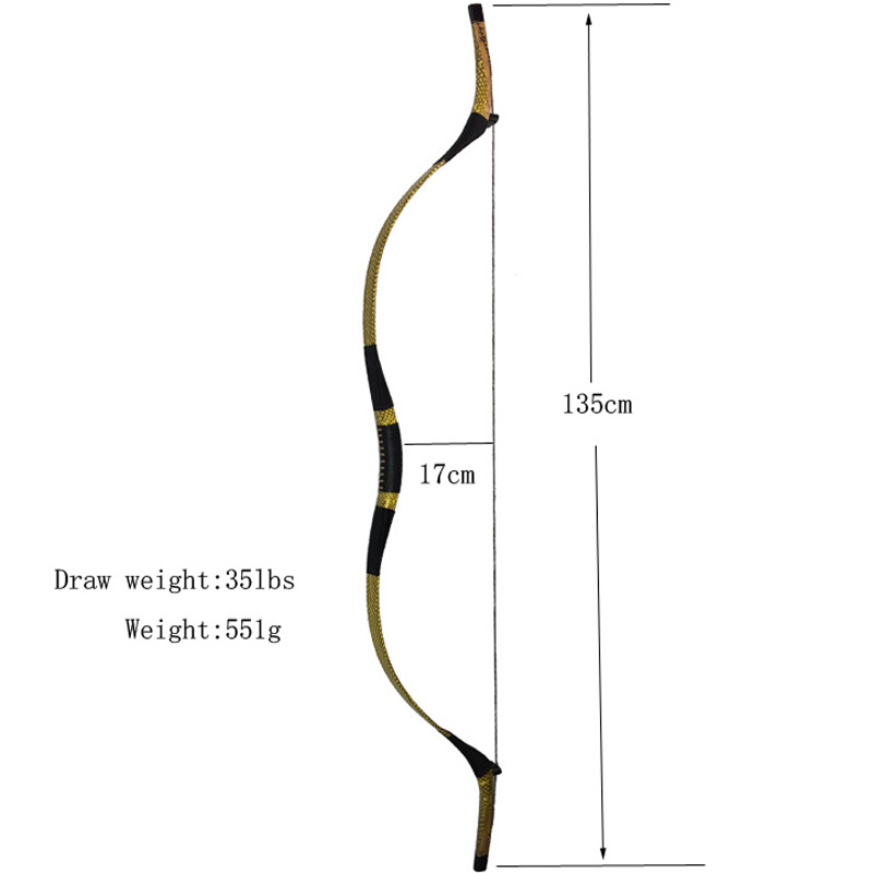 1pc Archery Traditional Bow Draw Weight 35lbs Longbow Takedown Bow Recurve Bow Hunting1pc Archery Traditional Bow Draw Weight 35lbs Longbow Takedown Bow Recurve Bow Hunting