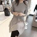 2524 новая зимняя кружева юбка и свитер свитер