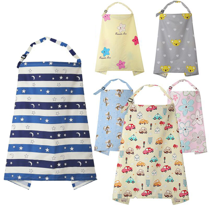 1pcs 100% Cotton Breathable Breastfeeding Cover Muslin Feeding Baby's Apron Mommy's Outdoors Feeding Baby Breast Nursing Cover