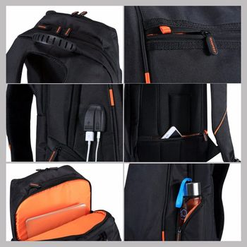 Solar Panel Breathable Casual Backpack 4