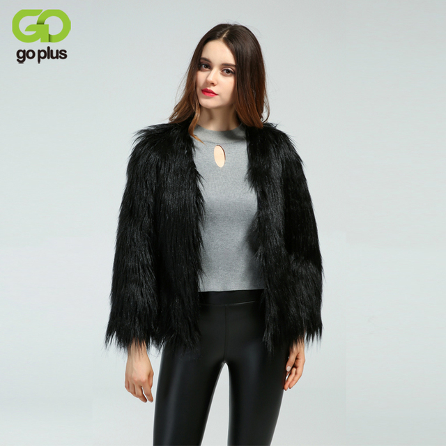 82fd8cc406 GOPLUS Women Warm White Lady Fake Fur Jacket Plus Size Artificial Fur Coat  Pink Women's Fur Coat Autumn Winter Luxury Furry Coat