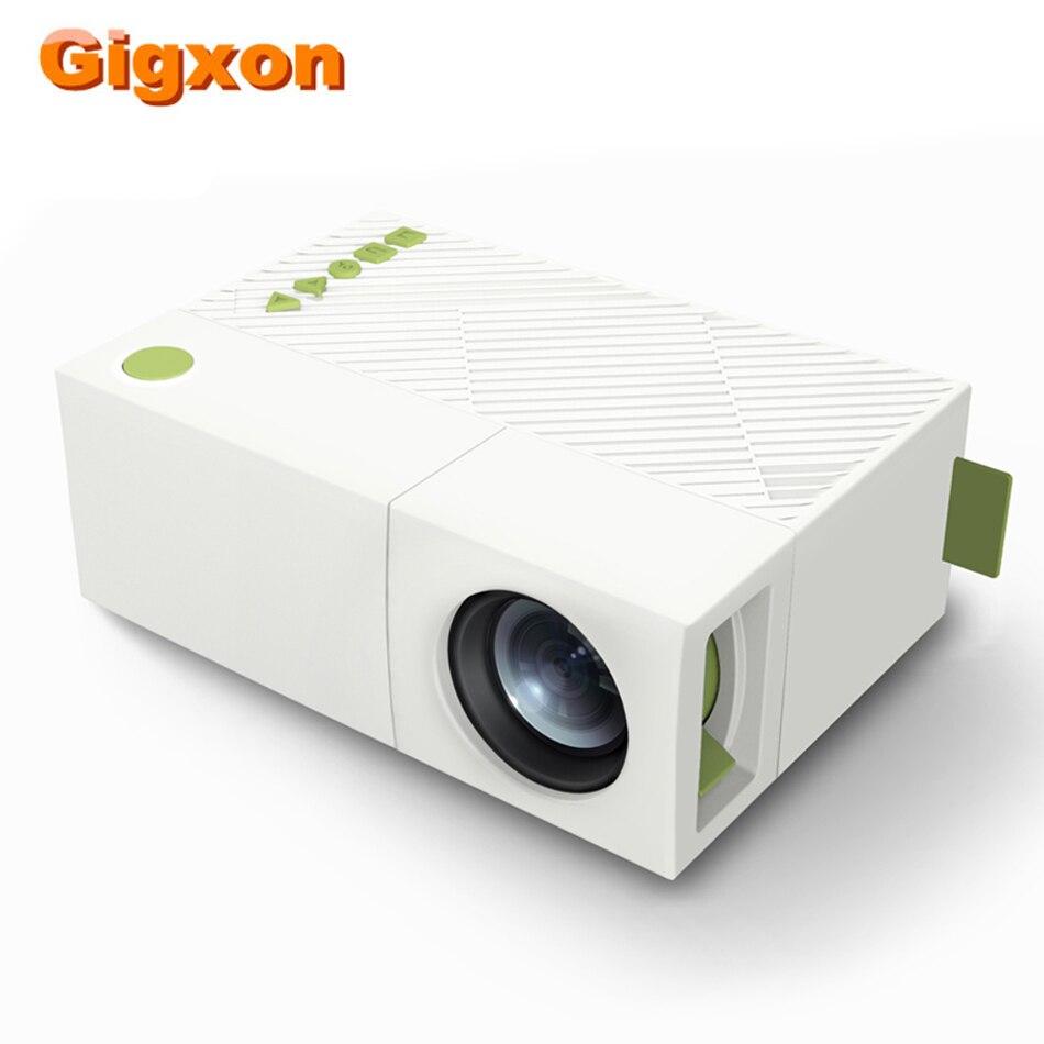 Gigxon G19 Plus mini Proyector de bolsillo de vídeo Proyector LED 320*240 USB/SD/AV/HDMI para TV Box juego ordenador portátil tarjeta de memoria