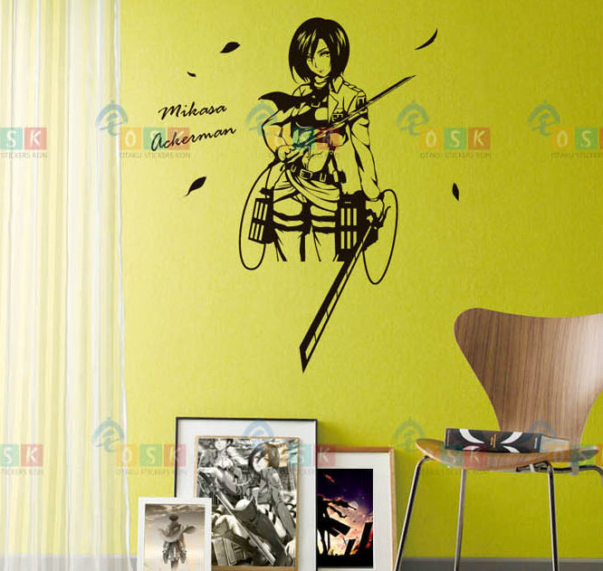 DCTAL Attack On Titan Decal Japanese Cartoon Wall Stickers Glass ...