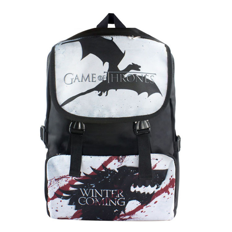 American TV Series Game of Thrones Nylon Waterproof Laptop Backpack/Double-Shoulder Bag/School Bag nylon double shoulder bag backpack
