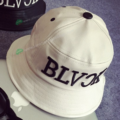 01df25d6911 Korean PU leather Embroidery BLVCK logo bucket hat hip hop spring summer bucket  hats fishing cap for men-in Bucket Hats from Apparel Accessories on ...