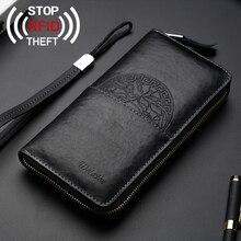 rfid wallet men card holder carteira black wallats Card Holder Passport Cover Case Organizer Bag for Men