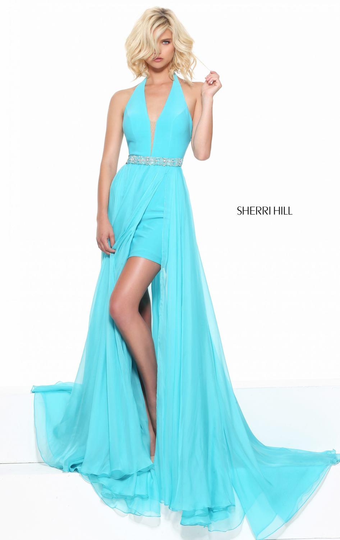 6e7ca330fda04 Halter Top Chiffon Short Front And Long Back Prom Dresses Beads ...