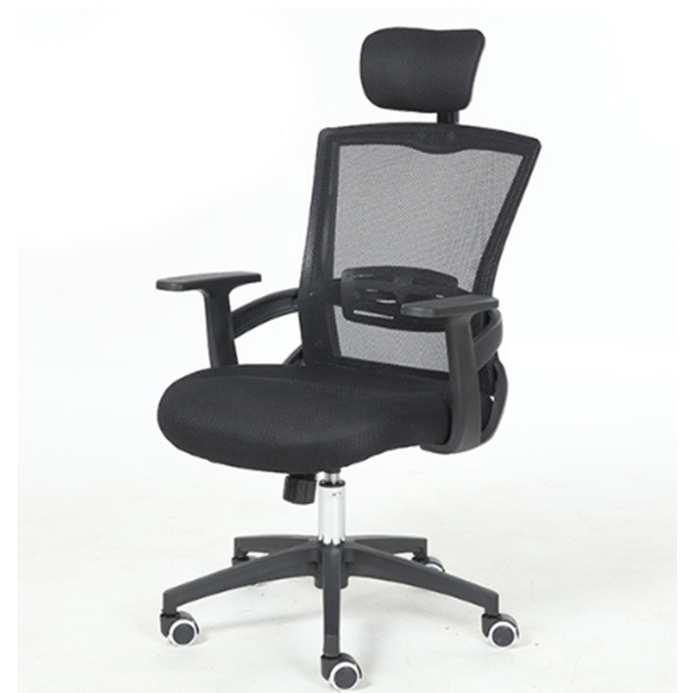 Fashion To Work In An Office Black Screen Cloth Staff Member Chair Household Fashion Swivel Chair Student Lift Chair member