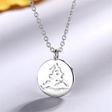 2019 Womens Statement Round Coin Face Pendant Necklace Head Portrait 925 Sterling Silver Chain Choker Boho JewelryP210