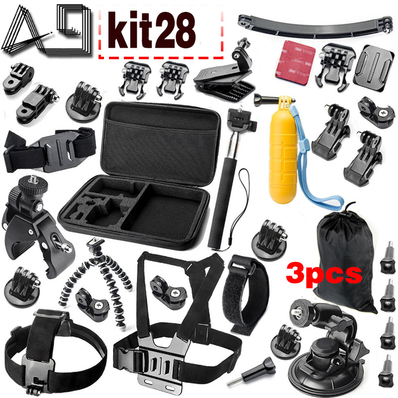 A9 For Gopro accessories set go pro kit mount  SJCAM Xiaomi Yi for  Sony Act Cam HDR AS200V AS100V AZ1 mini FDR-X1000V/W 4 k dz chm1 clip head mount kit for sony action camera fdr x1000v hdrr as200v hdr az1vr hdr as100v