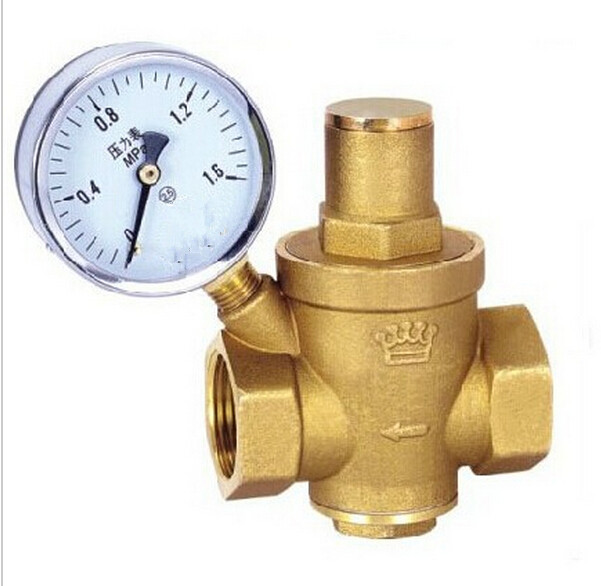 2015 DN20 3/4 Brass water pressure regulator with pressure gauge,pressure maintaining valve,water pressure reducing valve prv 1pcs oxygen regulator pressure gauge pressure reducing valve input 15mpa g5 8