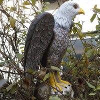 ZILIN Kunststoff Weißkopfseeadler Lockvogel Erschrecken Weißkopfseeadler Garten verteidigung Hawk/Adler Neues Produkt!