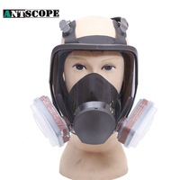 Working Dust Mask Spray Pesticide/Painting Industrial Gas Mask Chemical Respirators Mask Full Facepiece Respirator With Filter
