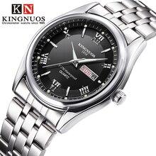 Men Watches 2020 Brand New Kingnuos Steel Waterproof Quartz Wristwatch for Men Saat Date