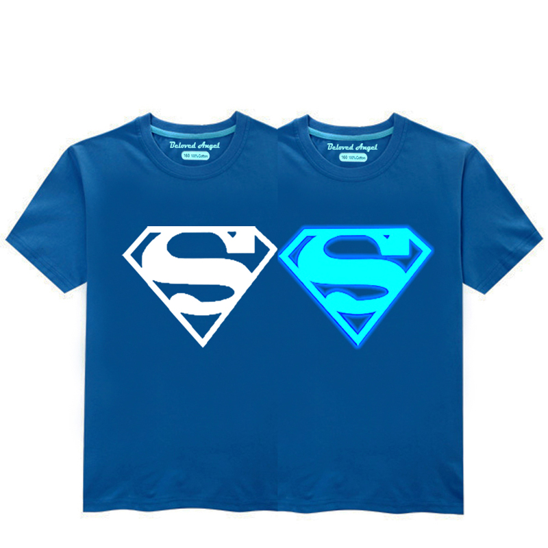 HTB1TjpSRY2pK1RjSZFsq6yNlXXaC - Luminous Short Sleeves T-Shirt For Boys T Shirt Spiderman Christmas Teen Girls Tops Size 3-15 years Teenage Toddler Boy Tshirts