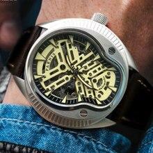 relogio masculino PARNIS Watch Men Military Automatic Watch Mens Watches Top Brand Luxury Leather Miyota Wristwatch Luminous стоимость