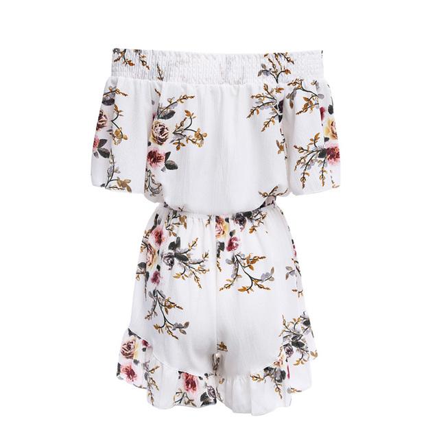 Floral Print Women Romper Jumpsuit