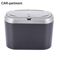 CAR Partment Multifunctional Hanging Flip Cover Plastic Car Trash Rubbish Garbage Bin Dust Case Organizer Container