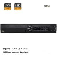 Оригинальный английский ds 7716ni e4/16 P hik 16ch HD 1080 P 160 Мбит/с 6mp 16 * POE Порты и разъёмы Сетевой видеорегистратор 4 SATA интерфейсов