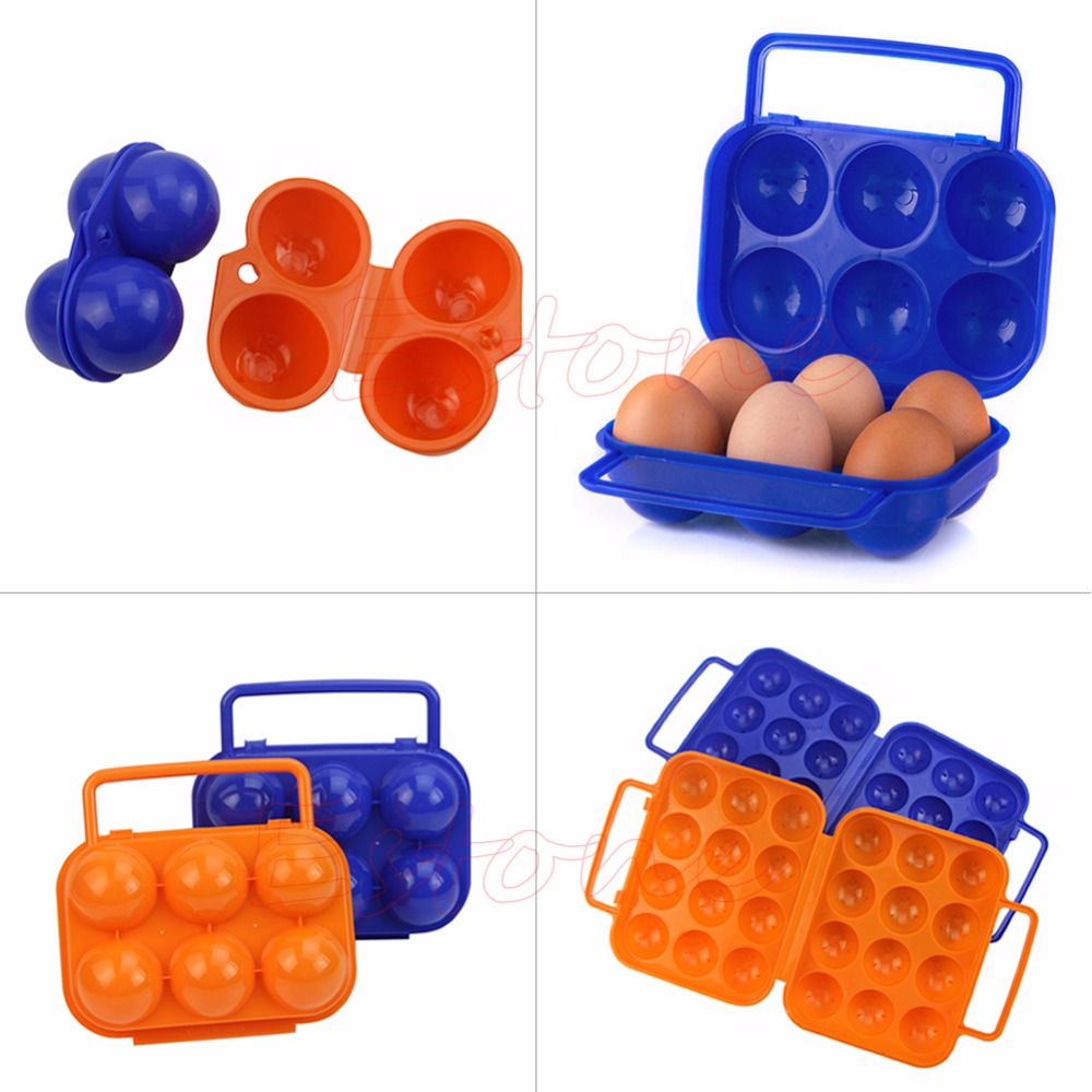 Hot Portable Carry 2/6/12 Eggs Container Holder Storage Box Case Folding Plastic New