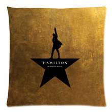 Hamilton Broadway Musical Decorative Cushion Cover Sofa Car Chair Home Decor Cotton Linen Throw Pillow Case Almofadas 45X45CM