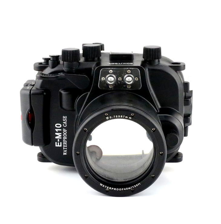 Meike 40M 130ft Underwater Case Camera Housing Diving Bag For Olympus E-M10 EM10 with 14mm- 42mm Lens 40m 130ft waterproof diving underwater dslr camera housing case for canon g9x