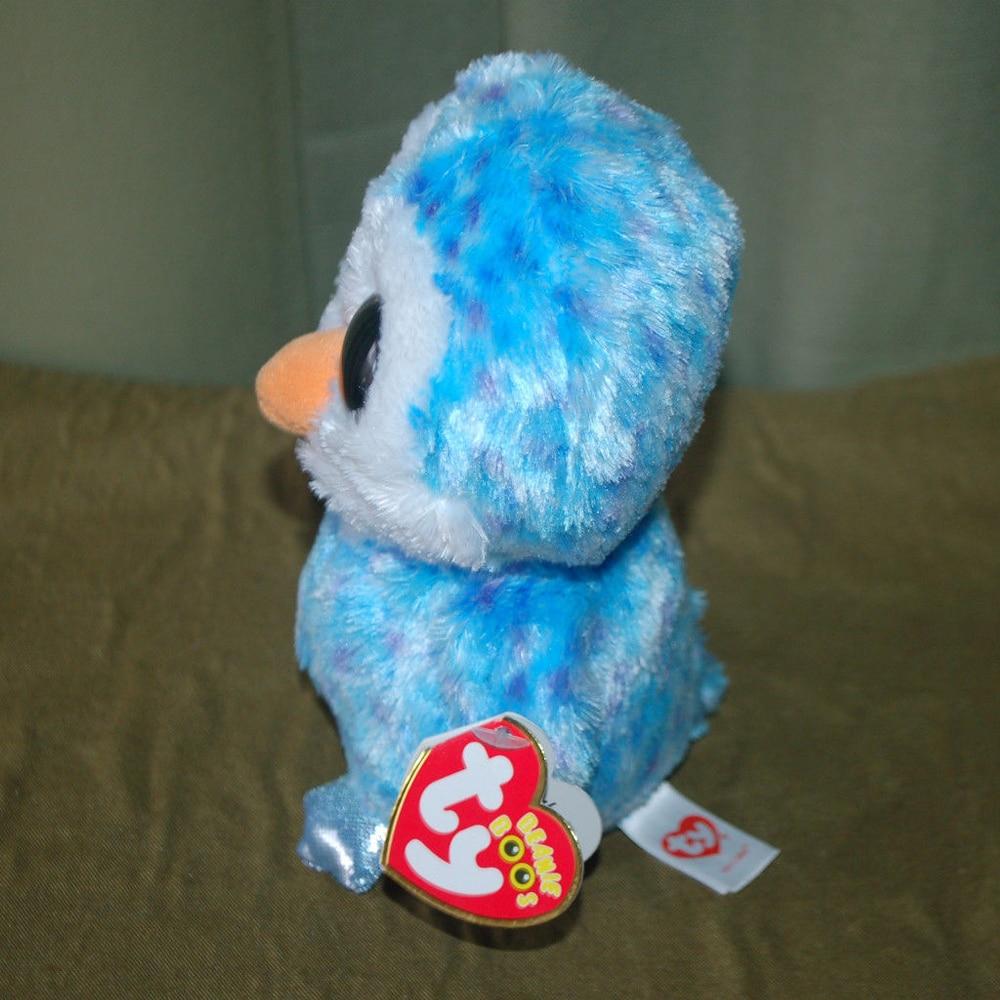 888b3211f29 Pyoopeo beanie boos ice cube the blue penguin plush medium big eyed stuffed  jpg 1000x1000 Beanie